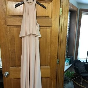 H&M maxi blush chiffon dress